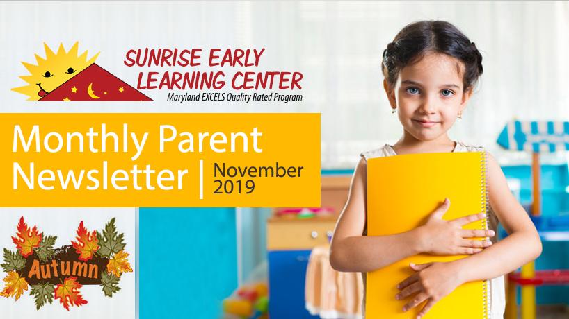 Monthly Parent Newsletter | November 2019